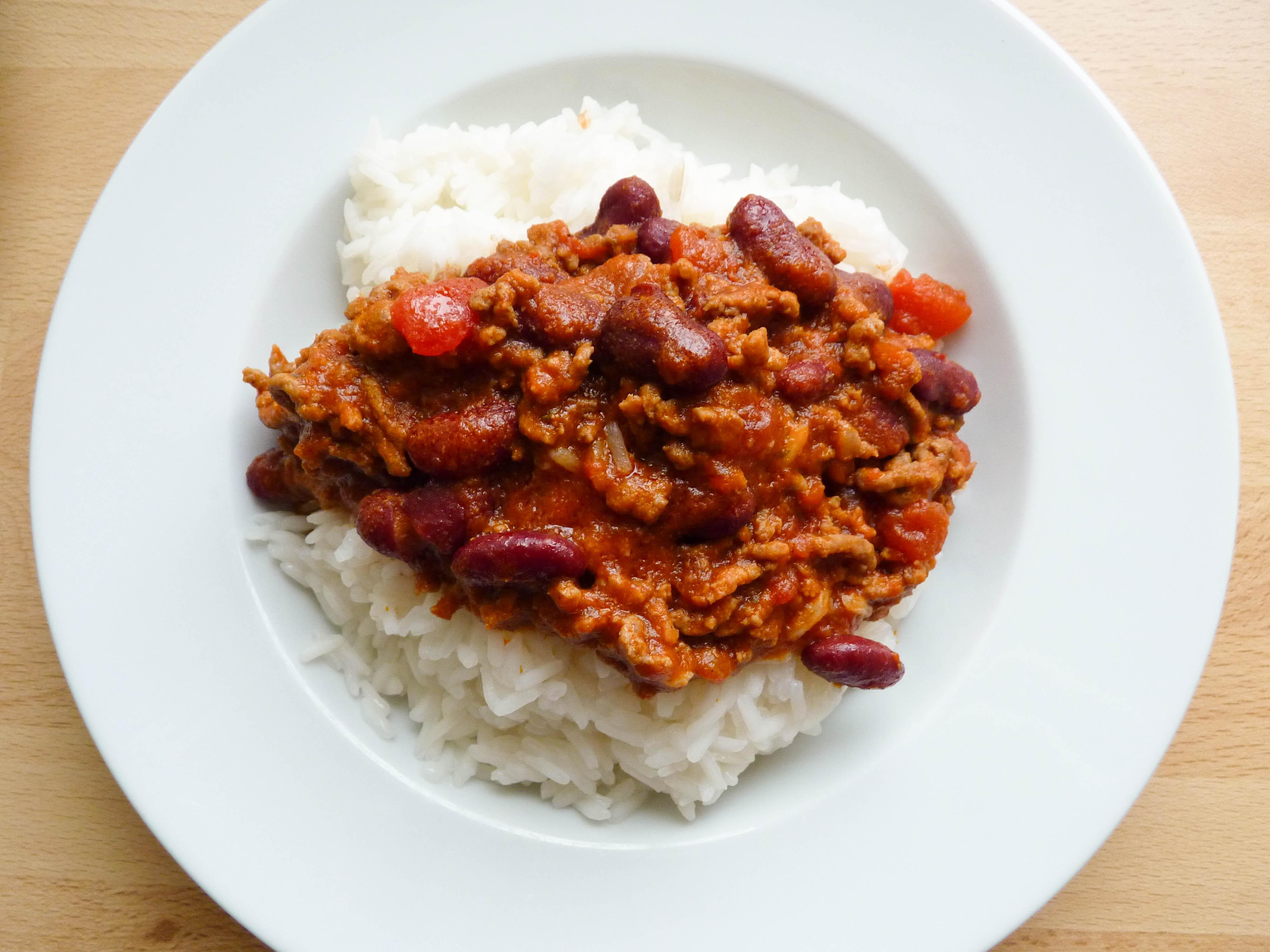 Chili con carne escarpins en cuisine - Recette chili cone carne thermomix ...